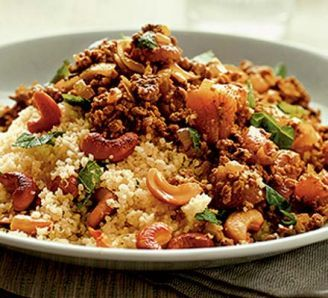 Swap the cashews with pomegranate. Could use lamb mince sometimes.