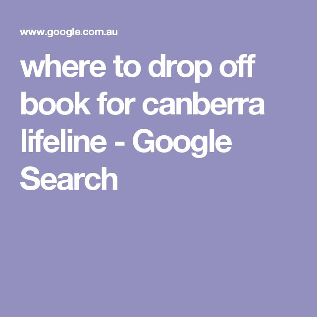 where to drop off book for canberra lifeline - Google Search