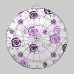 Contemporary Purple Sun Pattern dartboards