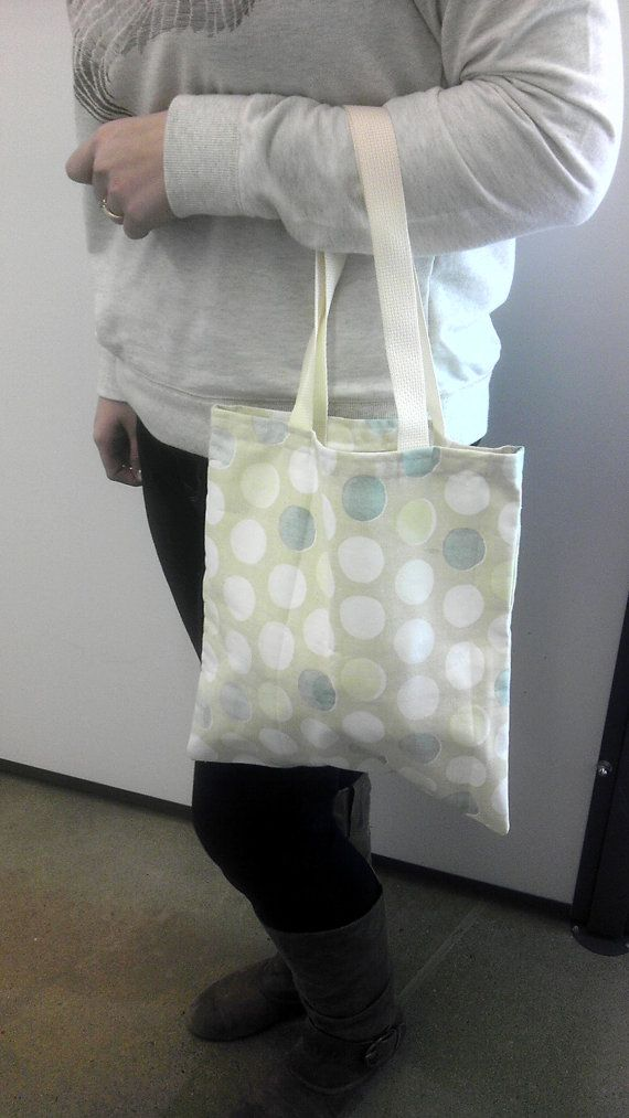 Multicolored Polka Dots on Cream Tote Bag by AnomalousCreations, $13.50