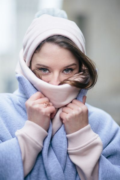 TOO COLD TO RISK powder pink by RISK Made in Warsaw = keep your head warm!