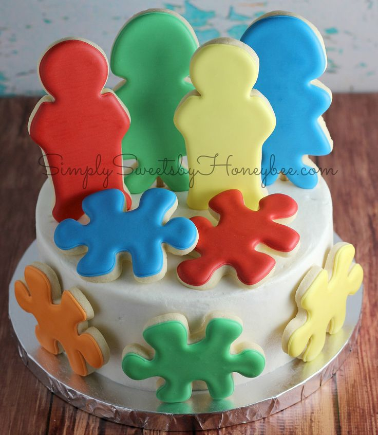 Candied Cake Decoration Crossword : 17 Best images about Autism Cakes! on Pinterest Cookie ...