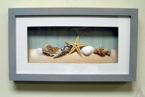 bathroom wall decor: Shell Seashell Starfish Fish Bathroom Room Shadow Box Wall Art