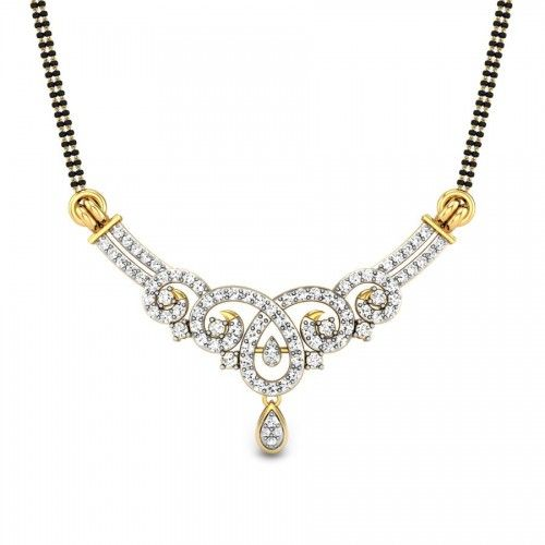 Diamond Mangalsutra with unique design and cheap price visit http://www.candere.com/suprita-mangalsutra-pendant.html