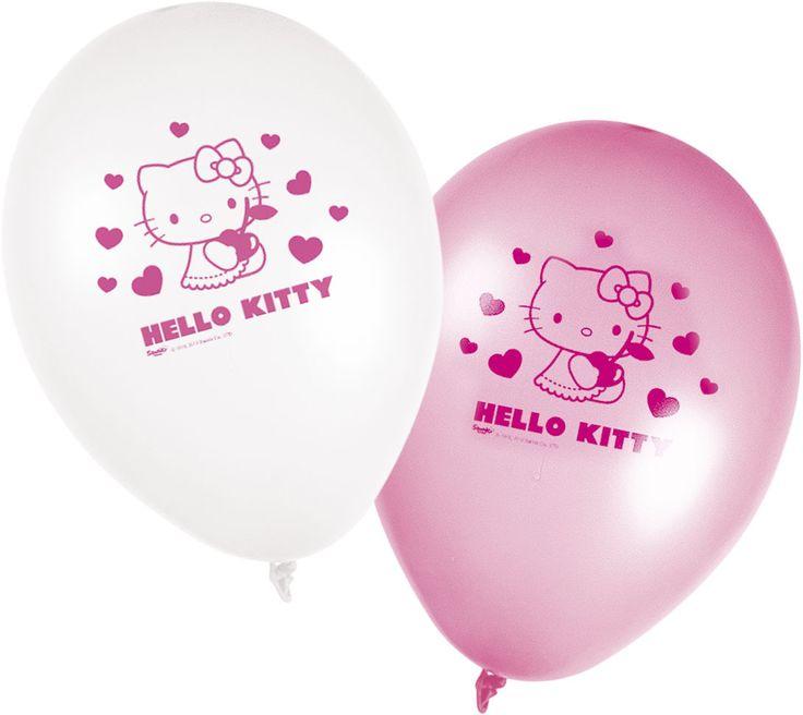 Hello Kitty balónky 8ks 28cm | BALONKY .CZ