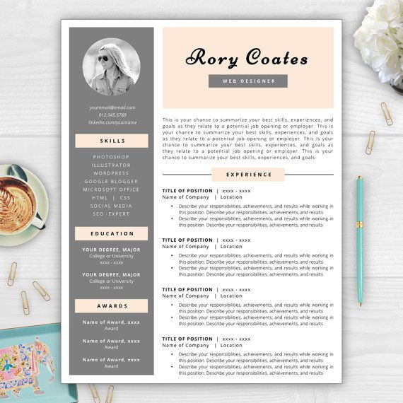 resume template with photo resume design by resumetemplatestudio - Unique Resume Templates