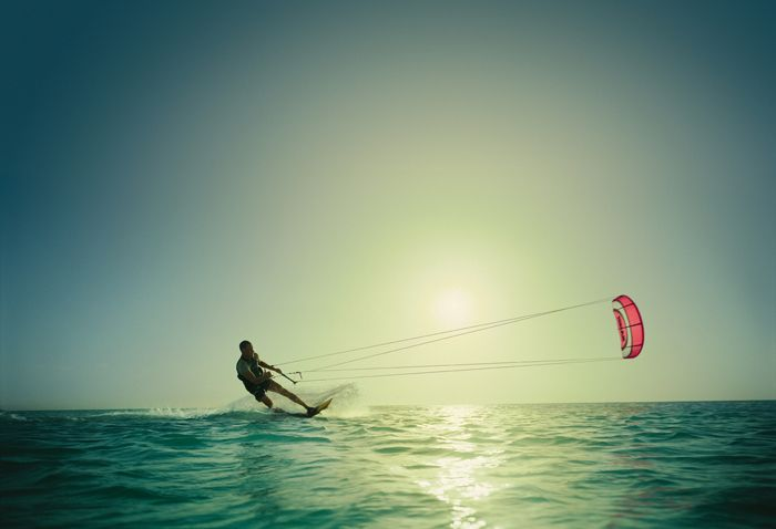 try kite surfing!