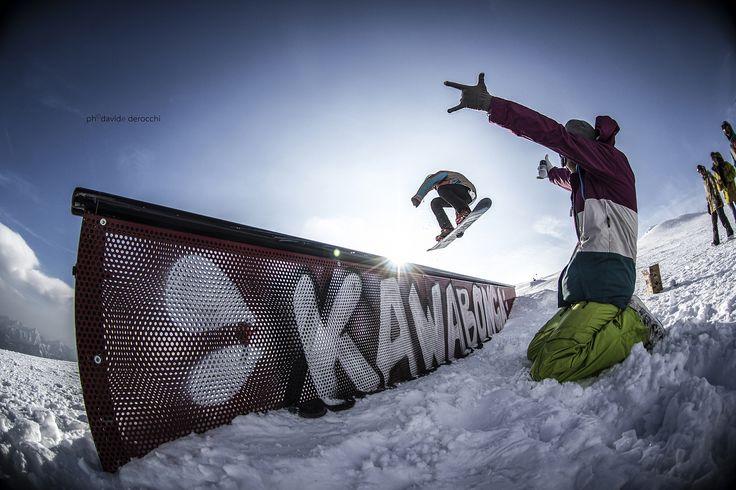 Kawabonga Snowpark -DueeffeShop Team  -Stalefish over rail -Omar E.