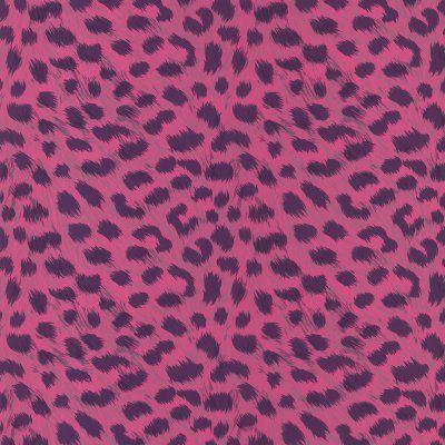 Brewster Kitty Purry Leopard Print Wallpaper Pink - 443-90543