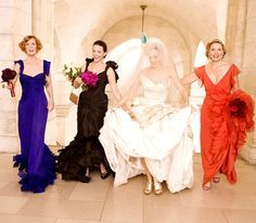 My wedding will be black tie and my bridesmaids will most likely get to wear different gowns