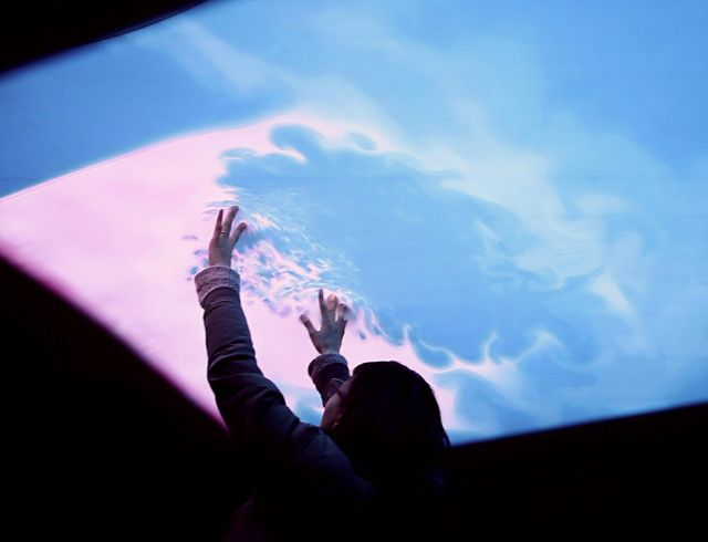 really awesome--- Cloud Pink Interactive Ceiling by Everyware