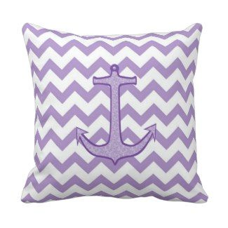 Purple Floral Anchor on Chevron Pillow 30% off all throw pillows Black Friday use code ...