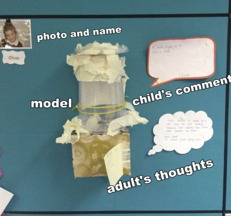 Recording in display what the children say about their work or what they think about what they have been doing along with their photograph can be a great way of getting them to engage with the print that is on the walls.