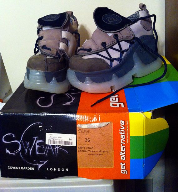 Alternative Platform Swear Shoes Boots By Arkhamsemporium
