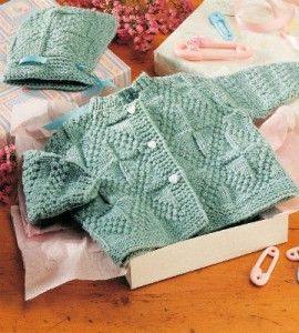 Bundles of Joy Knit Set: This outfit is sized for a 6-month-old -- perfect pattern for baby! countrywomanmagazine.com