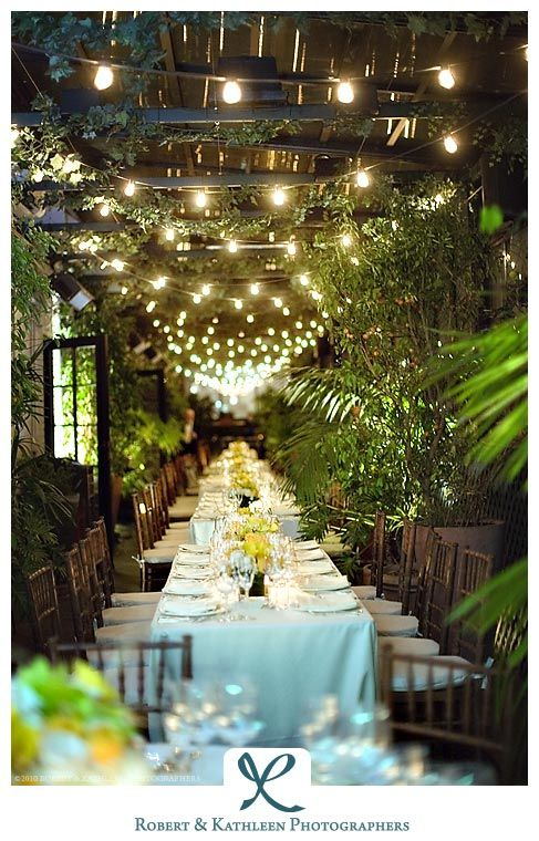 Secret garden wedding reception...just had to save this because I automatically thought of my Mandy :')
