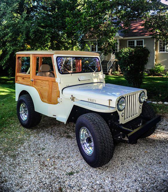 "Sweet restoration job. CJ-3A ""Willys Woody"" Dad has a 1048 CJ-2A it's a workhorse."