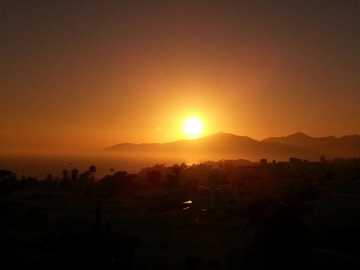 Lanzarote, Puerto del Carmen. Glorious Sunset