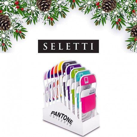 Il Pacco Natale Pantone 002 comprende 12 Sedie e 1 Espositore, un regalo simpatico e originale che dona un tocco di colore e allegria a tutta la casa, i colori possono essere scelti fra la gamma Pantone® specificando nello spazio note dell'ordine i colori preferiti.