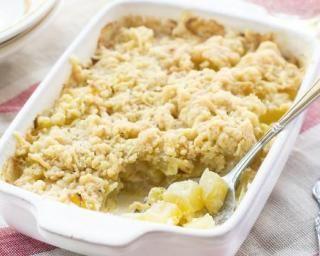 Crumble salé de quinoa à la courgette et au chèvre!