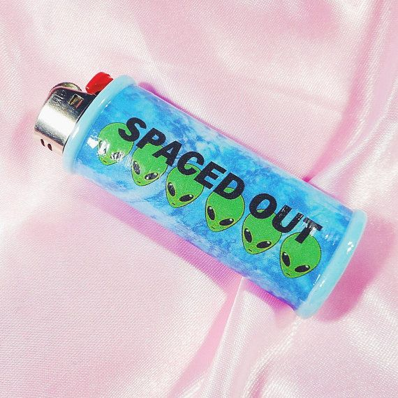 Spaced Out Alien Tie Dye Lighter Case Cover Holder