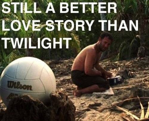 If you didn't cry when Wilson died, you're a terrorist.Laugh, Twilight, Truths, Movie, So True, Funny Stuff, Humor, Wilson, Tom Hanks
