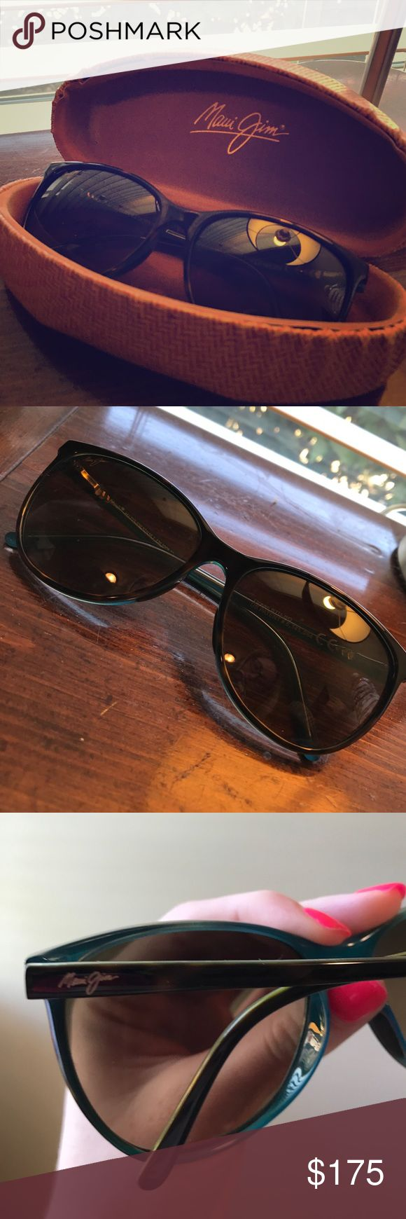 OCEAN Maui Jim sunglasses. Lightly worn. Lightly worn OCEAN Maui Jim sunglasses in tortoise on the frames and with peacock on the inside of frames. Great condition. Highly rated sunglasses! Maui Jim Accessories Glasses
