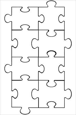 Mer enn 25 bra ideer om Puzzle piece template på Pinterest - puzzle piece template