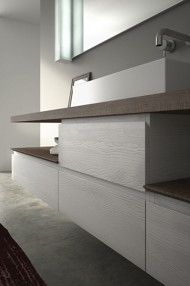 Nuova finitura Pembroke White per il modello TIME #bathroom #design #bath #arredobagno