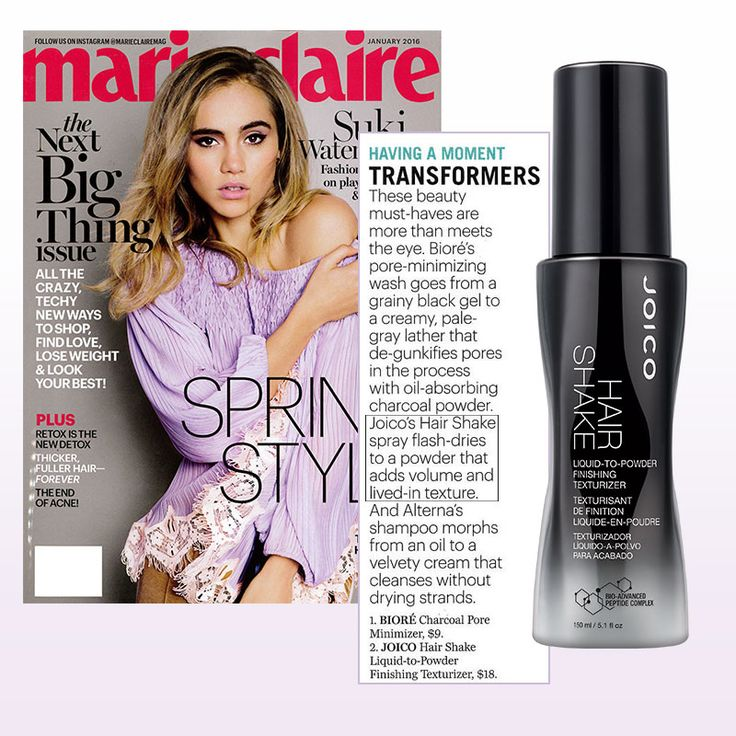 Beauty transformer: Joico Hair Shake as seen in Marie Claire. #press #buzz