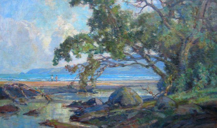 Dezentje  Ernest , Aan-het-strand-van-Java