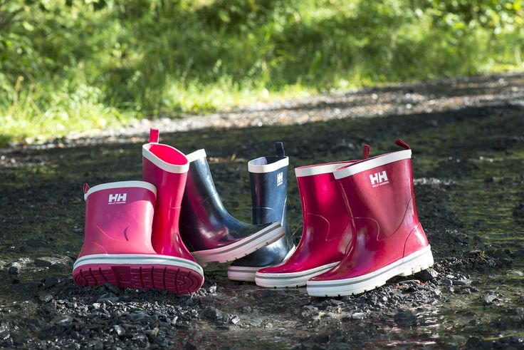 Helly Hansen kids rain boots. Photo by Berit Bergestig