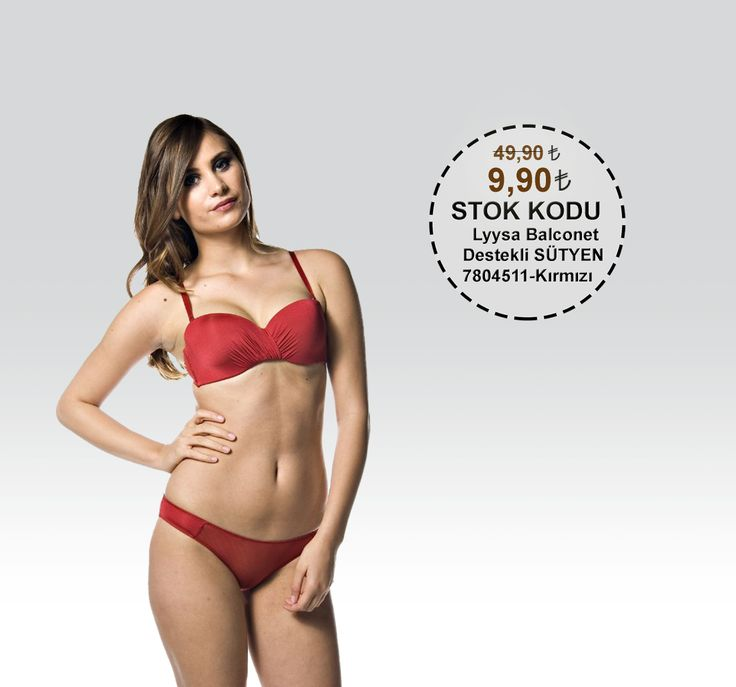 Lyysa Balconet Destekli SÜTYEN 7804511 Kırmızı 49,90 TL yerine 9,90 TL Satın almak için;http://modayiz.com/ #sale #underwear #campaign #woman