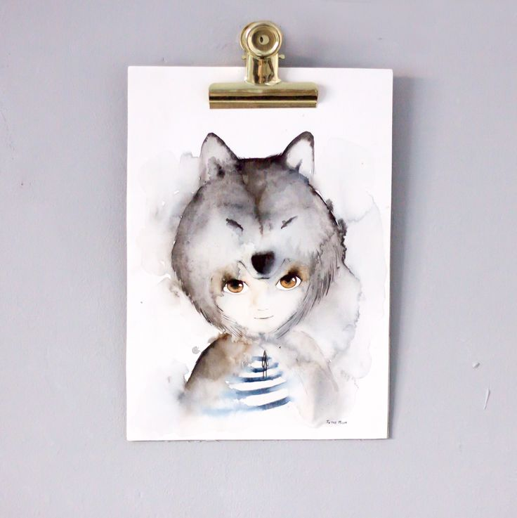Wolf poster. To the Moon