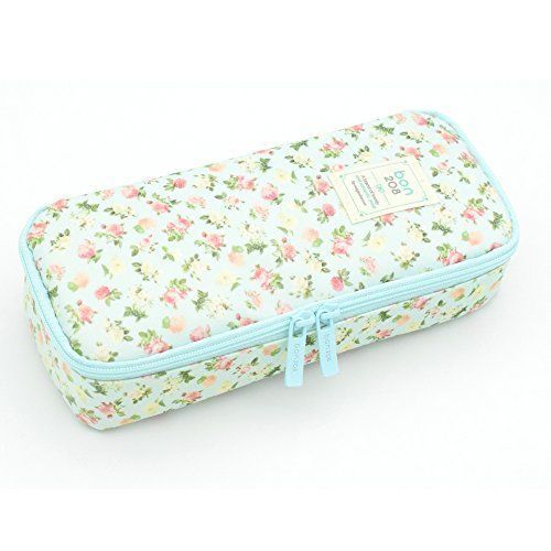 Pencil Case Twinkle Club Pen Bag Makeup Pouch Zipper Box Office Organizer Rose F #TwinkleClub