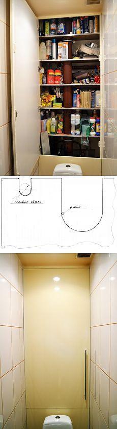 Как сделать шкаф в туалете   Своими руками