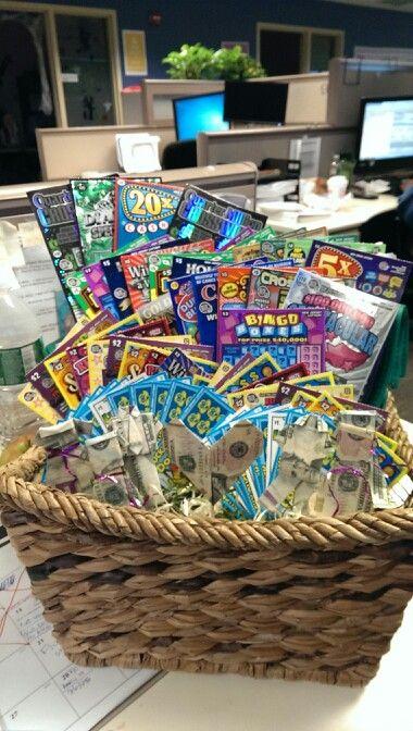 Lottery raffle basket