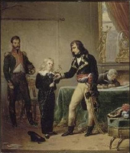 Le général Bonaparte rendant à Eugène de Beauharnais l'épée de son père (1795)General Bonaparte visiting Eugene de Beauharnais the sword of his father (1795)