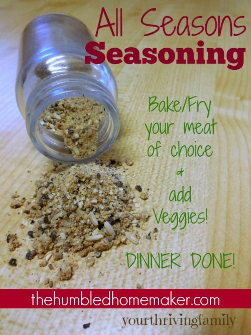Homemade All-Purpose Seasoning for Meat and Veggies - The Humbled Homemaker
