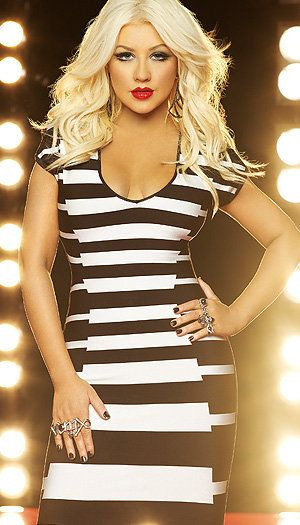 This is a super slimming dress!  (christina aguilera)