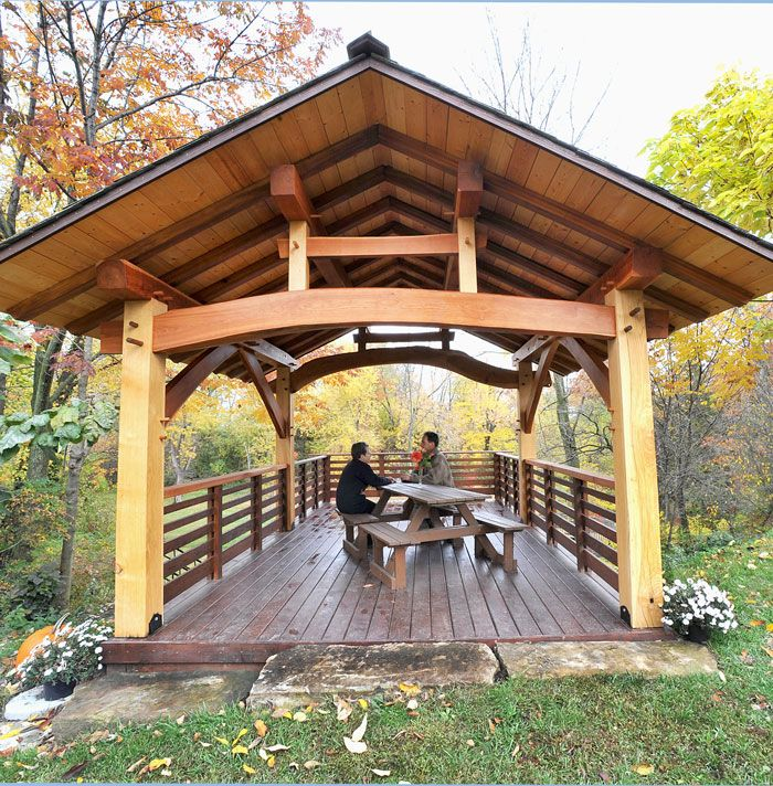 Building a timber frame business with a portable sawmill for Rustic gazebo plans
