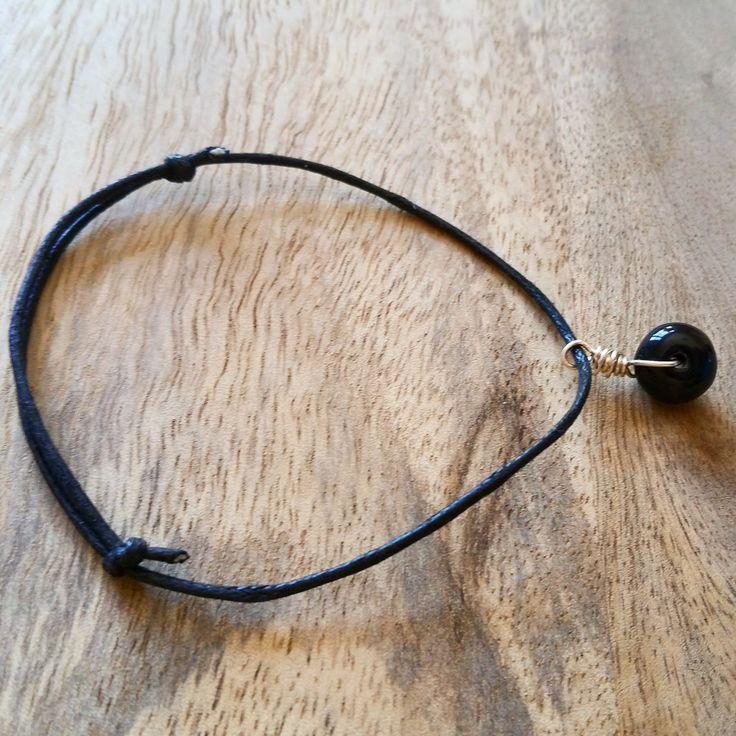 Black And Silver Beaded Bracelet by JdwCrafts on Etsy