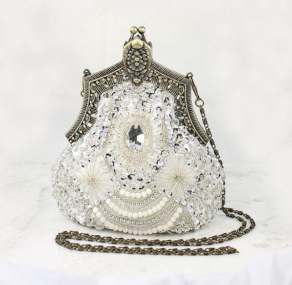 Art+Deco+clutch | Art Deco Bridal Clutch, Old Hollywood Evening Bag, Handbag Purse great ...