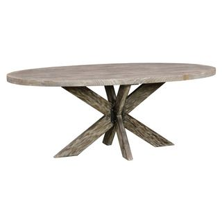 Kosas Home Rockie Pine Wood Oval Dining Table | Overstock.com Shopping - The Best Deals on Dining Tables