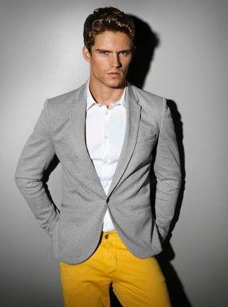 Les 25 meilleures id es concernant pantalon moutarde sur pinterest tenue jeans moutarde - Blazer jaune moutarde ...