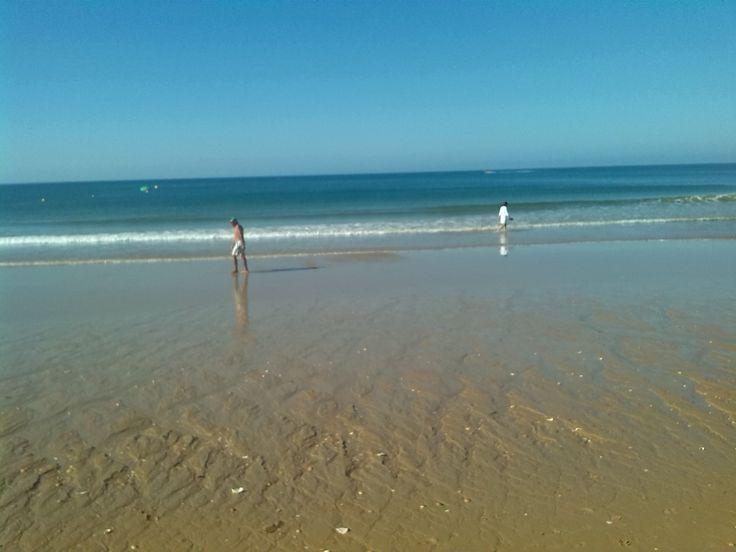 Albufeira beach in the morning