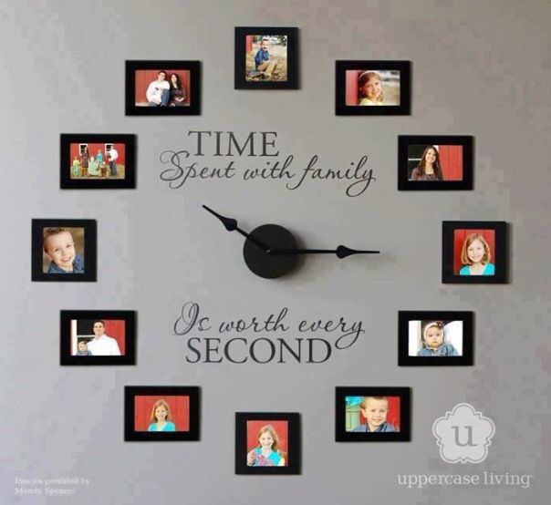 Love this for a photo wall.