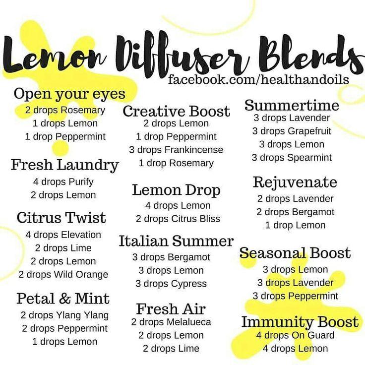 Doterra essential oil diffuser blends using lemon, peppermint, frankincense, rosemary, on guard, line, wild orange, elevation, spearmint, ylang-ylang, Melaleuca, citrus bliss, purify, bergamot
