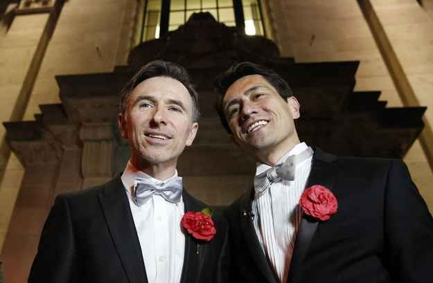 42 Unforgettable Moments in England and Wales' First Night of Marriage Equality