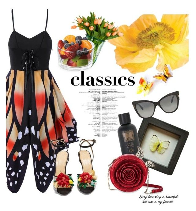"""""""Fly Like A Butterfly"""" by cosomica on Polyvore featuring Charlotte Olympia, The Fragrance Kitchen and Tom Ford"""